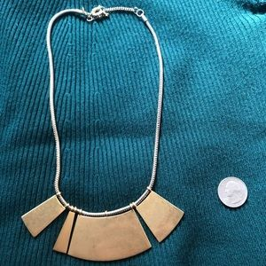 Four Bar Gold Tone Madewell Necklace